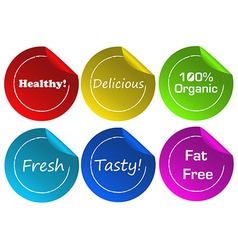 Food label stickers vector
