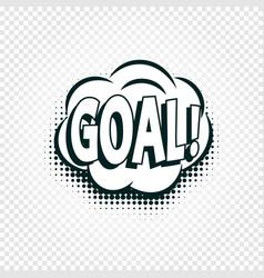 Goal icon comics cloud with halftone shadow goal vector