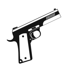 Gun icon black simple style vector