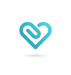 Heart symbol clip logo icon design template may be vector