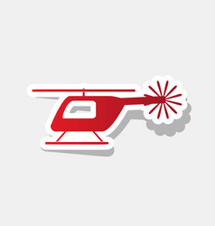 helicopter sign new year vector image