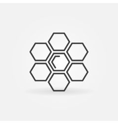 Honeycomb linear icon vector image