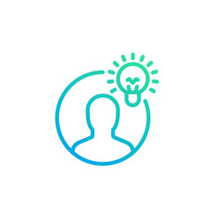 idea insight linear icon vector image