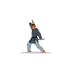 Japanese Kama martial arts sign vector