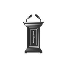 judicial tribune vector image