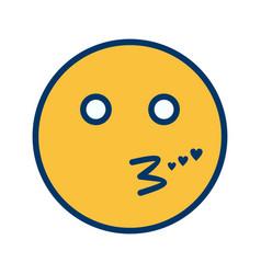 Kiss emoji icon vector