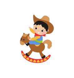 little cowboy little cowboy vector image