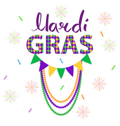 Magri gras carnival concept with garlands vector