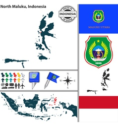 Map of North Maluku vector image