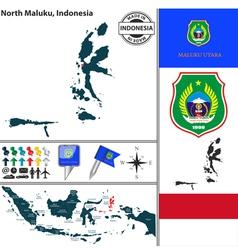 Map of north maluku vector