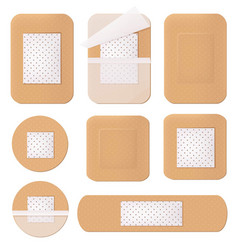 Medical plaster helthcare bandage tape path vector