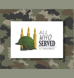 military helmet object and bullets army vector image