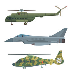 military transport helicopter technic army vector image