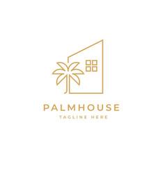 palm house logo design symbol template vector image