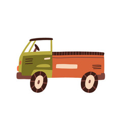 plastic truck toy with cabin bed and wheels vector image