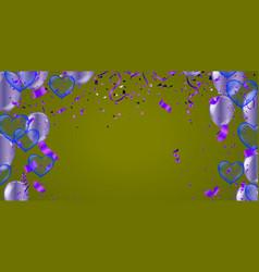 purple balloons vector image