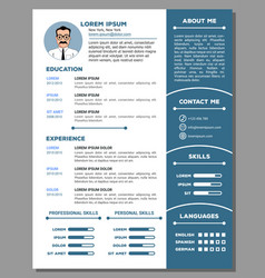 Resume and cv template with nice design vector