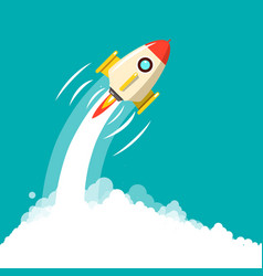 rocket launch business startup ymbol space travel vector image