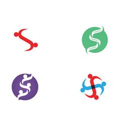 S people community unity team logo vector