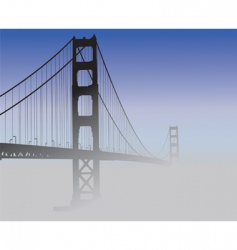 san francisco golden gate bridge vector image