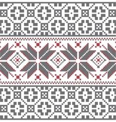 Scandinavian winter embroidery pattern vector
