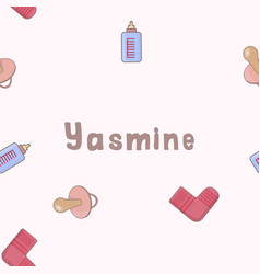 Seamless background pattern name yasmine of the vector