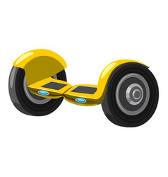 Self balancing hoverboard icon cartoon style vector