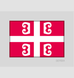 Serbian cross national symbol of serbia national vector