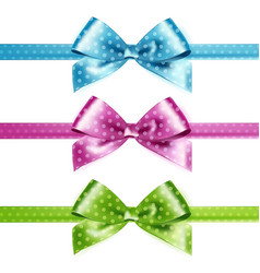 set isolated pink green and blue vector image