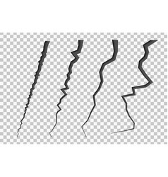 set of cracked lines vector image