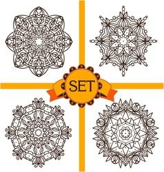 Set of monochrom mandals-2 vector