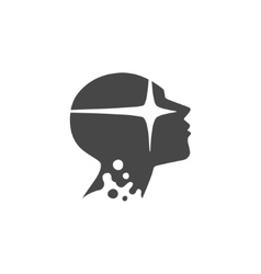 silhouette a head vector image