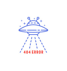 simple 404 error with linear ufo vector image