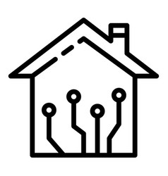 Smart home network icon outline style vector