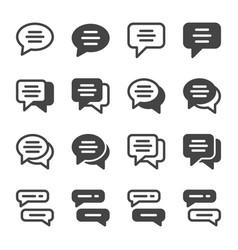 Speech bubble icon set vector