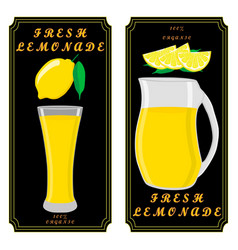 the theme lemonade vector image