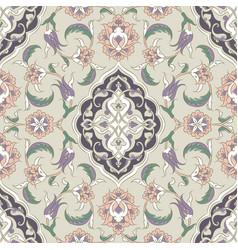 turkish iznik tile design vector image vector image