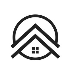 upscale housing symbol logo design vector image