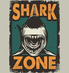 Vintage dangerous zone for surfing concept vector