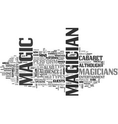 what type of magician can i hire text word cloud vector image