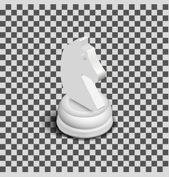 white knight chess piece isometric vector image