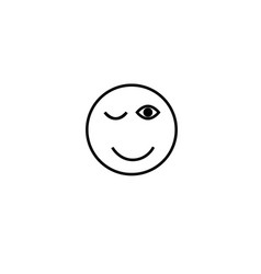 wink emotion icon vector image