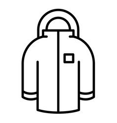 Winter jacket icon outline style vector