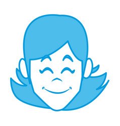 woman face smiling cartoon vector image