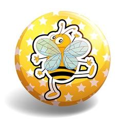 Yellow bee vector image vector image