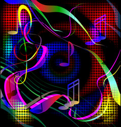 colored image crazy music vector image