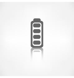 Full battery icon Accumulator vector image