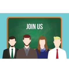 Join us hr human resource business vector
