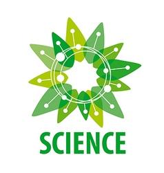 Logo chip as a green flower vector