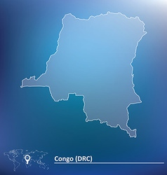 Map of Democratic Republic of the Congo vector image